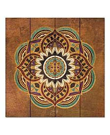 "Boho Medallion II 12"" x 12"" Wood Pallet Wall Art"