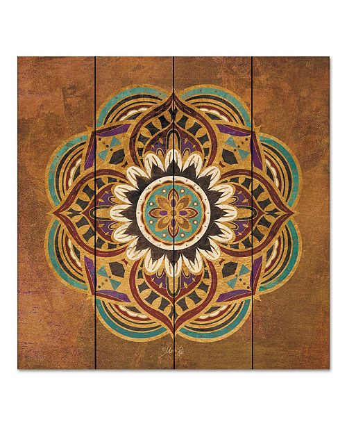 "Courtside Market Boho Medallion II 12"" x 12"" Wood Pallet Wall Art"