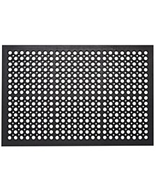 "All Purpose Drainage Anti Fatigue Rubber Floor Mat, 24"" x 36"""