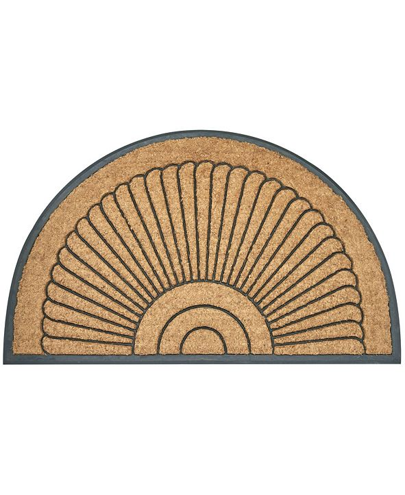 "Envelor Arc Du Soleil Rubber Backing Coco Welcome Doormat, 24"" x 39"""