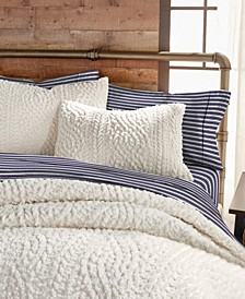 G.H. Bass Cable Knit Sherpa Full/Queen Comforter Set