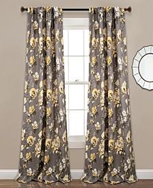 "Tania Floral 52"" x 95"" Curtain Set"