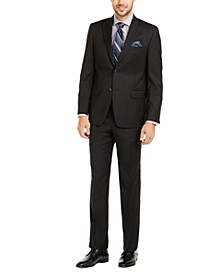 Men's Slim-Fit UltraFlex Stretch Black Solid Suit Separates