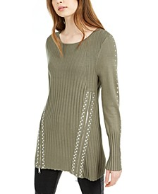 Zippered Studded Sweater, Created for Macy's