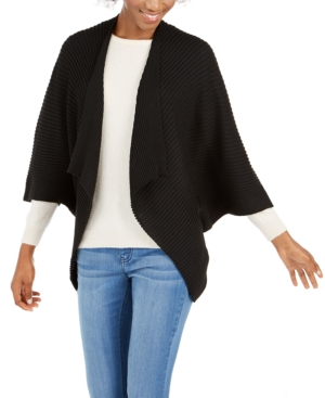 Save The Ocean Recycled Knit Kimono In Black