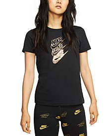 Women's Sportswear Cotton Metallic-Logo T-Shirt