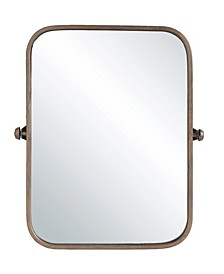 Metal Framed Wall Mirror w/Copper Finish