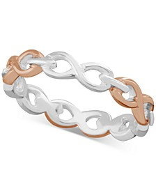 Infinity Link Ring in Two-Tone Plate