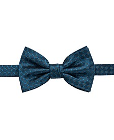Men's Boysen Pre-Tied Geometric Silk Bow Tie, Created for Macy's