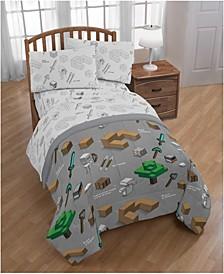Reversible 5-Piece Full Comforter Set