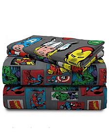 Superheroes 3-Piece Twin Sheet Set