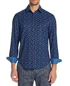 Men's Slim-Fit Performance Stretch Mini Paisley Shirt