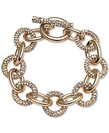 Gold-Tone Pavé Crystal Flex Link Bracelet