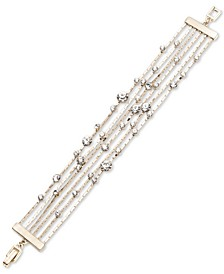 Gold-Tone Crystal Multi-Row Flex Bracelet