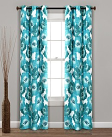 "Julie Floral 38"" x 84"" Blackout Curtain Set"