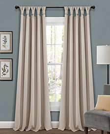 Lush Decor Knotted Tab Top Blackout Curtain Sets
