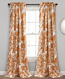 "Dolores 52"" x 84"" Botanical Print Curtain Set"