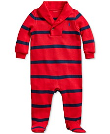 Baby Boy's Striped French-Rib Coverall