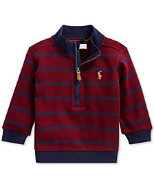 Baby Boy's Cotton Interlock Stripe Pullover