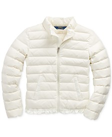 Polo Ralph Lauren Big Girl's Ruffled Quilted Down Jacket