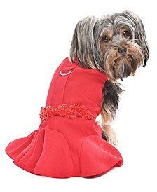 Satin Embellished Dog Dress