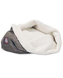 "17"" Villa Micro-Velvet Burrow Dog Bed"