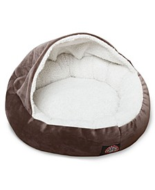 "18"" Suede Canopy Dog Bed"