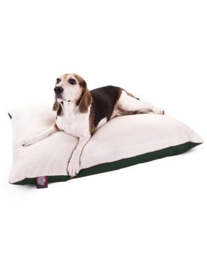 Majestic Pet Poly - Cotton Twill Sherpa Pillow Dog Bed