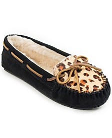 Leopard Print Cally Slipper