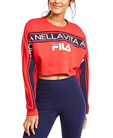 Fila Lucie Logo Cropped Sweatshirt