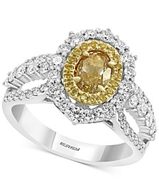 EFFY® HEMATIAN Diamond Halo Ring (2-1/8 ct. t.w.) in 18k Gold & White Gold