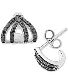 Black Diamond Drop Earrings (1/4 ct. t.w.) in Sterling Silver