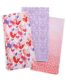 Valentine's Day Kitchen Towels, Set of 3, Created For Macy's