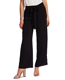 Jacquard Wide-Leg Pants