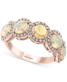 EFFY® Opal (2-1/2 ct. t.w.) & Diamond (1/4 ct. t.w.) Ring in 14k Rose Gold