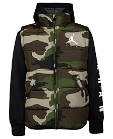 Toddler Boys Air Jordan 2-In-1 Puffer  Jacket