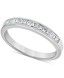 Diamond Princess & Baguette Band (1/3 ct. t.w.) in 14k White Gold