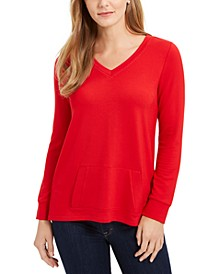 French Terry V-Neck Tunic, Created for Macy's