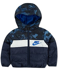 Little Boys Hooded Colorblocked Puffer Jacket