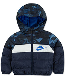 Nike Little Boys Hooded Colorblocked Puffer Jacket