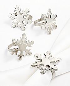 CLOSEOUT! Snowflake Napkin Rings, Set of 4