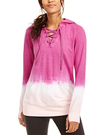 Ombré Lace-Up Hoodie, Created for Macy's