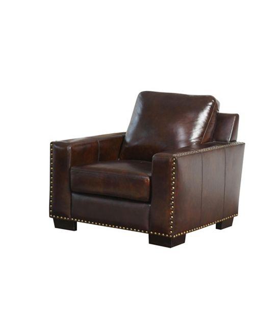 Abbyson Living Easton Leather Arm Chair