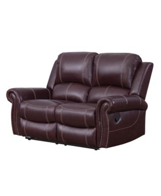 Calvin Leather Recliner Loveseat