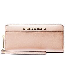 Karla Metallic Leather Large Travel Continental Wallet
