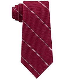 Men's Classic Textured Stripe Silk Tie
