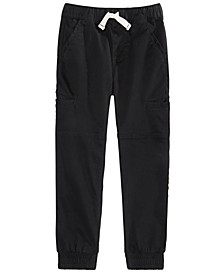 Toddler Boys Stretch Twill Cargo Joggers, Created For Macy's