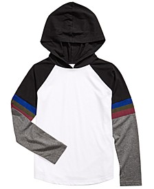 Big Boys Hooded Colorblocked T-Shirt, Created For Macy's