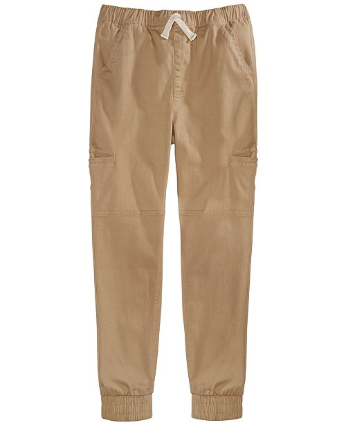 Epic Threads Big Boys Stretch Twill Cargo Joggers, Created For Macy's
