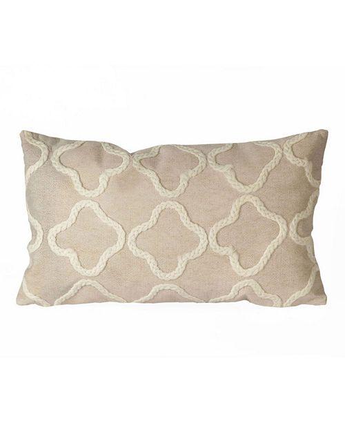 "Liora Manne Visions I Crochet Tile Indoor, Outdoor Pillow - 20"" x 12"""